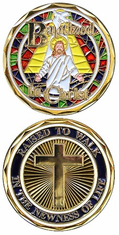Baptized in Christ Challenge Coin