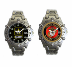 Brass Case and Strap Military Insignia Watches