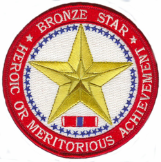 "Bronze Star Medal 4"" Patch"