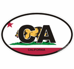 California Oval Decals Stickers
