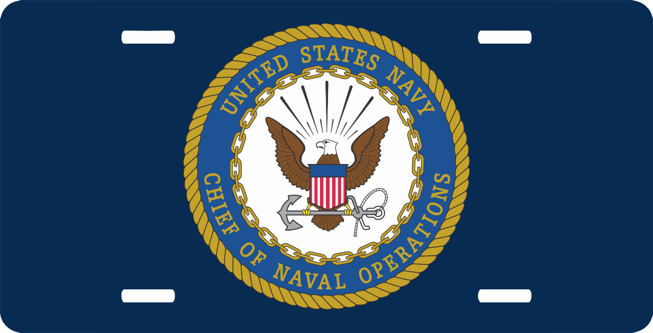 Chief Of Naval Operations License Plate