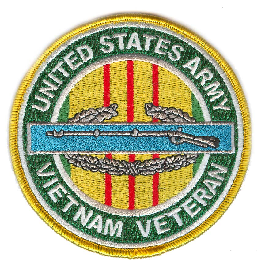 "CIB 4"" Vietnam Veteran Patch 