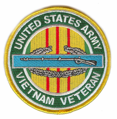 "CIB 4"" Vietnam Veteran Patch"