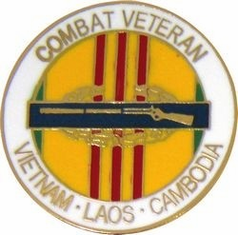 CIB Combat Veteran Lapel Hat Pin