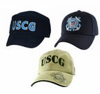 Coast Guard (USCG) Low Profile Direct Embroidered Ball Caps