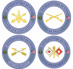 Cold War Veteran US Army Branch Insignia Decals Stickers