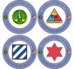 Cold War Veteran US Army Divisions Decals Stickers