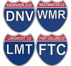 Colorado Interstate Stickers Decals
