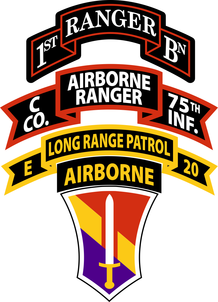 Company C Airborne Ranger 75th Infantry Decal