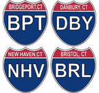 Connecticut Interstate Stickers Decals