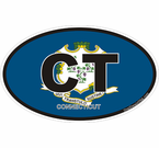 Connecticut Oval Decals