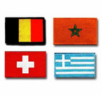 COUNTRY FLAG SHOULDER PATCHES