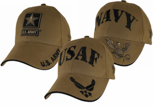 Coyote Brown Military Ball Caps