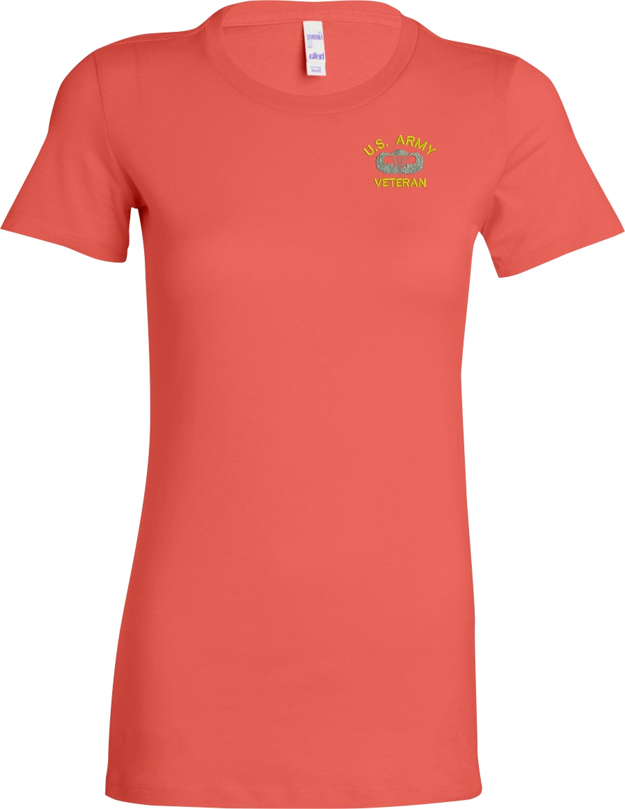 custom embroidered u s army ladies t shirt