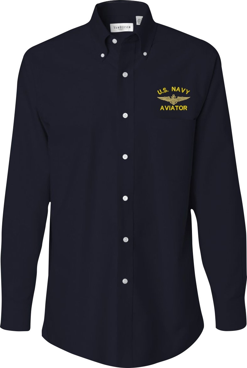 Custom Embroidered U.S. Navy Oxford Shirt
