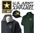 Custom Embroidered United States Army Apparel