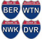 Delaware Interstate Stickers Decals