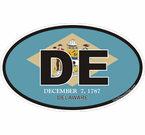 Delaware Oval Decals