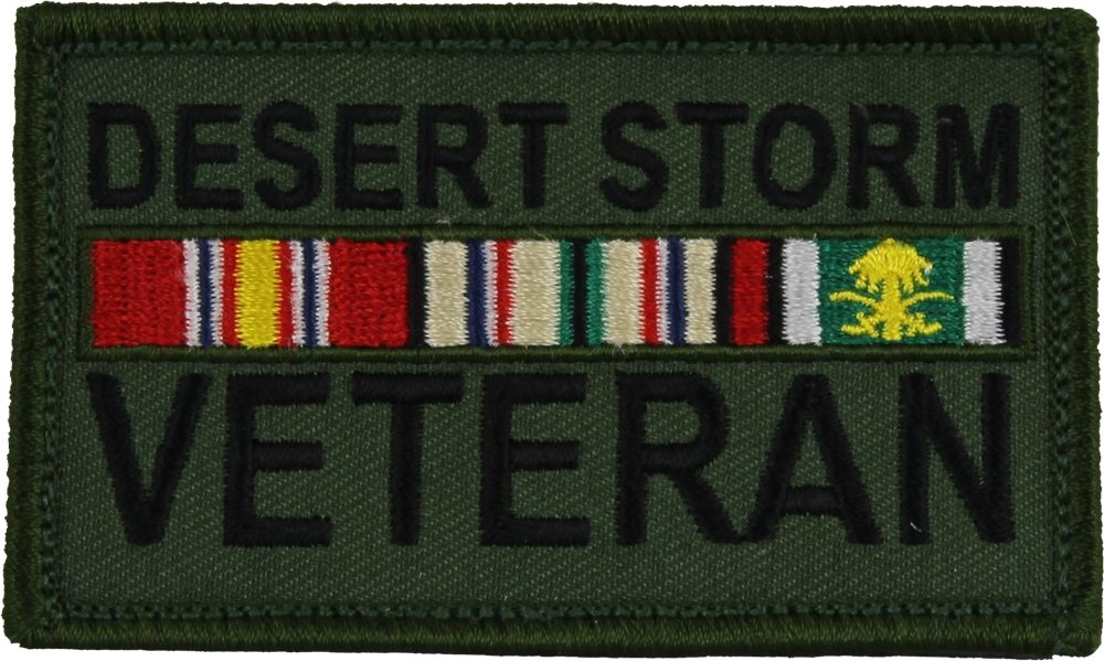 Desert Storm With Ribbons Hook And Loop Patch