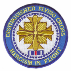 "Distinguished Flying Cross Medal 4"" Patch"