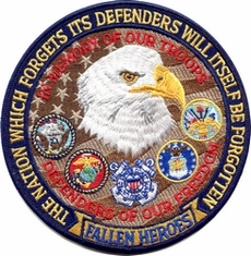"Fallen Heroes Defenders of Freedom 5"" Patch"
