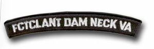 FCTCLANT Dam Neck Val Rocker Bar Military Patch