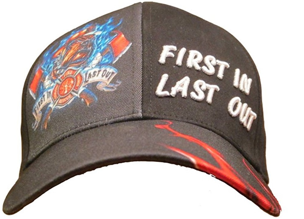 First In Last Out Firefighter Ball Cap