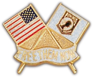 Flag POW Lapel Pin