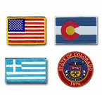 Flag Shoulder Patches and State Seals