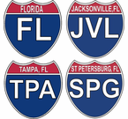 Florida Interstate Stickers Decals