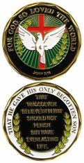 FOR GOD SO LOVED THE WORLD Challenge Coin
