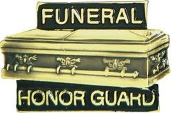 Funeral Honor Guard Lapel Hat Pin