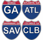 Georgia Intersate Stickers Decals