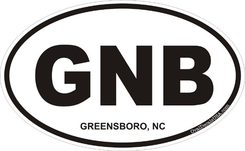 Greensboro north carolina oval decal