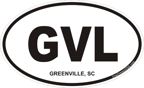 Greenville south carolina oval decal
