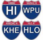 Hawaii Interstate Stickers Decals