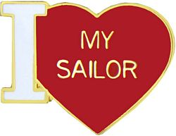 'I LOVE MY SAILOR' LAPEL PIN