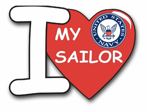 """I love My Sailor"" Vinyl Transfer Decal"