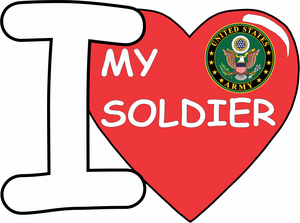 """I Love My Soldier"" Vinyl Transfer Decal"
