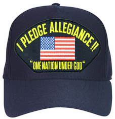 I Pledge Allegiance' with American Flag Ball Cap