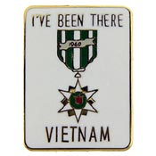 """I've Been There"" Vietnam Lapel Pin"