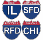 Illinois Interstate Stickers Decals
