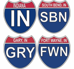 Indiana Interstate Stickers Decals