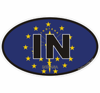 Indiana State Decals Stickers
