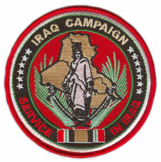 """Iraq Campaign Medal 4"""" Patch"""