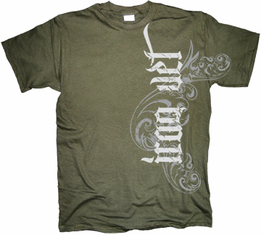 Iraq Veteran Vertical Tribal T Shirt