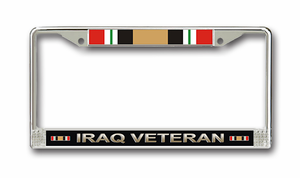 Iraq Veteran License Plate Frame