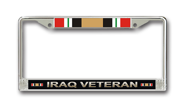 military license plates patriotic frames priorservice - Military License Plate Frames