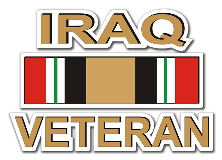 Iraq Veteran with Ribbon Decal