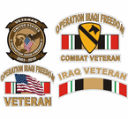 Iraqi Freedom Stickers  Decals